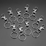 10pcs Fashion Stainless Steel Dual Key Holder Ring Keychain Silver Professional Instruments & Tools
