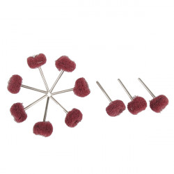 10pcs Mounted Fold Felt Sanding Dremel Accessories for Rotary Tools