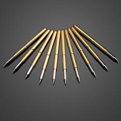 10stk ultra Spitz Goldene Flexible Multimeter Probe Leiterplattentest Needle