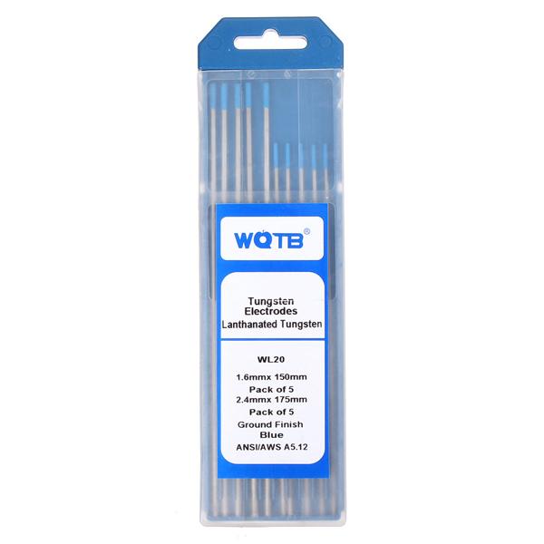 10pcs/set 2% Lanthanated WL20 TIG Welding Tungsten Electrode 1.6mmx150mm + 2.4mmx175mm Professional Instruments & Tools