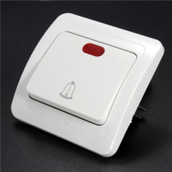 110-250V Gang Way LED Wall Push Press Button Doorbell Switch Control Panel