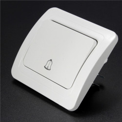 110-250V Gang Way Wall Push Press Button Doorbell Switch Control Panel