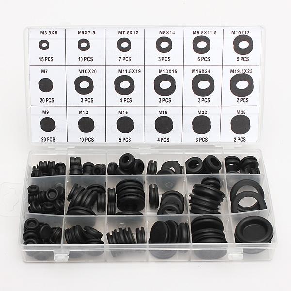 125 stk 18 Forskellige Størrelser Gummiring Sortiment O Ring Kit Instrument & Værktøj