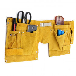 13 Pocket Pouch Tools Organizer Electrician Tools Bag with Expandable Belt