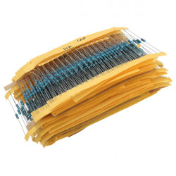 1460stk Metallschichtwiderstand Trikot Paket Mix Sortiment 1 / 4W ± 1% 1R bis 1 M 73 Werte