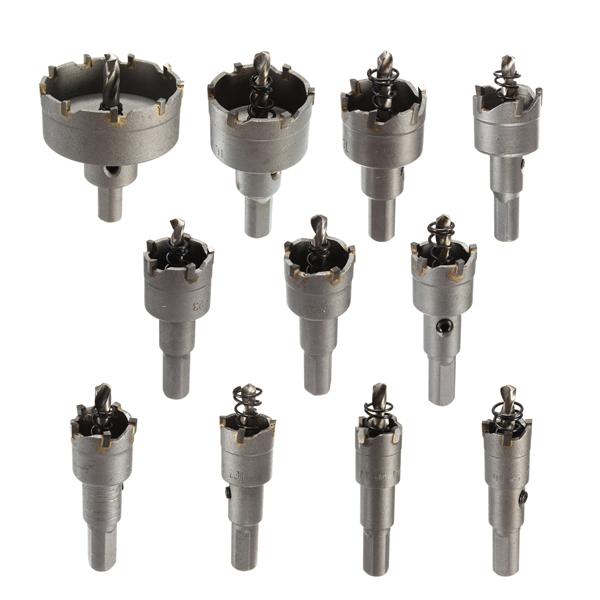 15-50mm Carbide Tip Bore Bit Metal Wood Alloy Cutter Hole Saw Værktøj Instrument & Værktøj