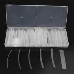 150stk Transparent 2: 1 Polyolefin Krympeflex Tubing Tube Sleeving