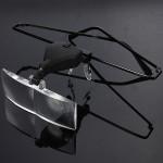 1.5X 2.5X 3.5X Stöd Glasögon LED Lampa Förstoring med Skruvmejsel Instrument & Verktyg