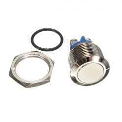 16mm Momentary Stainless Steel Pushbutton Switch With Screw Terminal