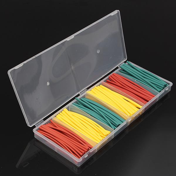 180stk Blandet Farve Polyolefin 2: 1 Halogen-Free Krympeflex Tubing Kit Instrument & Værktøj