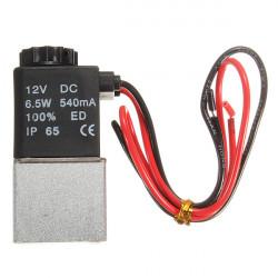 1 / 8inch 12VDC 2 vejs normalt lukket Electric Solenoid Air Valve