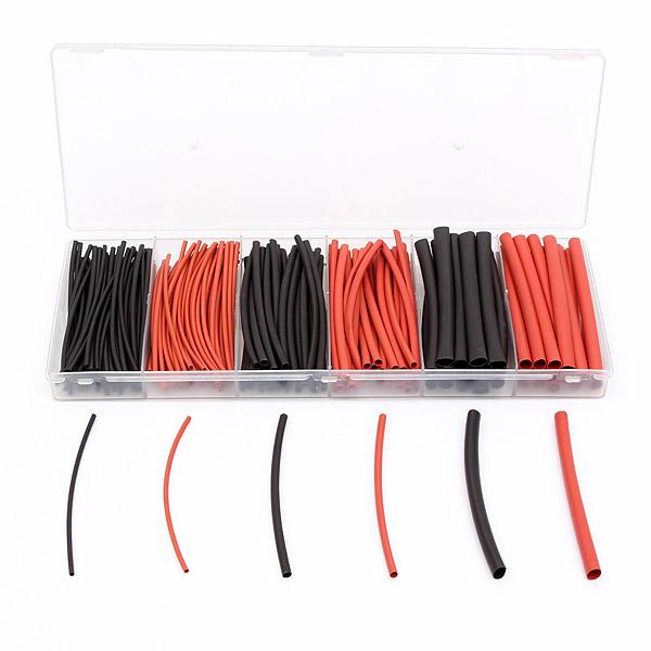 190stk 3 Größen Schwarz Rot Polyolefin 2: 1 Wärmeschrumpfschläuche Isolierschläuche Instrumente und Werkzeuge