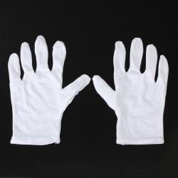 1Pair Weiße Baumwollhandschuhe Anti Statik Schutzhandschuhe für BGA Arbeits