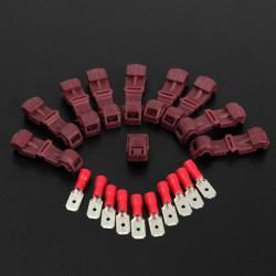 20stk 0.5mm - 1.5mm Forlængerenhed Red Mænd & Hun Car Quick Connector Terminals Ledningsføring