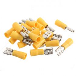 20stk 4 6mm² Weiblich isolierten elektrischen Anschlüsse Anschlüsse