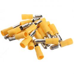 20st 4-6mm² Hane Isolerad Bullet Elektriska Terminal Kontaktdon