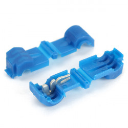20pcs Blue 1.5mm - 2.5mm Solderless Male & Female Quick Connector Terminals Wiring