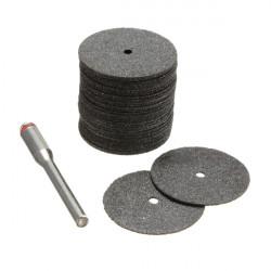 22mm 35stk Elektrisk Slibeskive Skæreblad Tools Sort