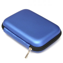 2.5Inch Power Bank GPS Hard Disk Drive Bag Carry Case Zipper PU Pouch Protection