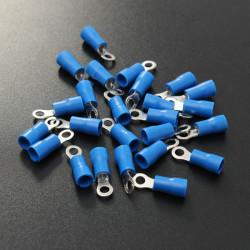 25st Blå Gummi PVC Terminal Isolerad Ringkabelsko RC 1.5-2.5mm²