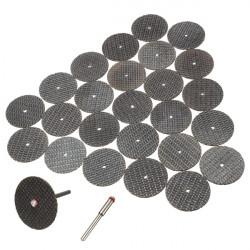 25Pcs Resin Cutting Wheel Disc + Mandrel Rotary Tool