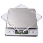 2kg X 0.1 G Rostfritt Stål Digital Pocket Precision Digitalvåg med Fack Instrument & Verktyg