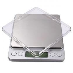 2kg X 0.1 G Rostfritt Stål Digital Pocket Precision Digitalvåg med Fack