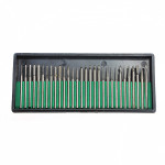 30pcs 3MM Titanium Diamond Burrs Bur Bit Set Dremel Rotary Tool Set Professional Instruments & Tools