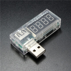 3.5-7V 0-3A LCD USB Kapacitet Spænding Og Strøm Tester Meter for Cell Phone Power Bank PC Etc.