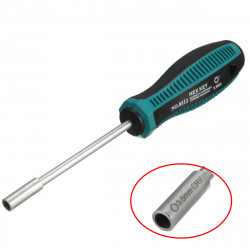 3.5mm CRV Socket Wrench Screw Driver Metal Hex NUT Key Screwdriver