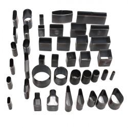 39stk 39Size Leather Craft DIY Værktøj Hole Hollow Cutter Punch Set