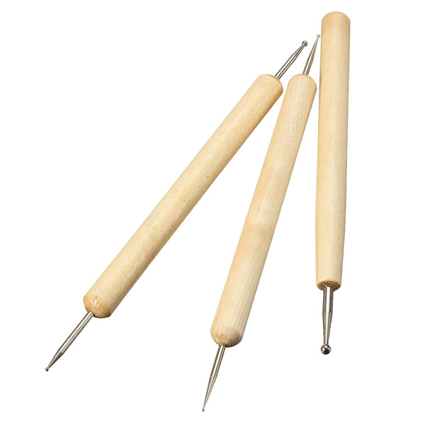 3stk Kugel Stylus Werkzeug Set für Embossing Lehm Sculpting Instrumente und Werkzeuge