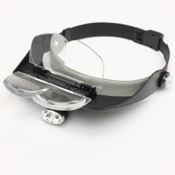 4 Linse Headband LED Head Light Magnifier Forstørrelsesglas Lup