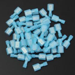 50stk 2.5cm Nylon Blau Männlich Insulated Wire Terminals Connectors