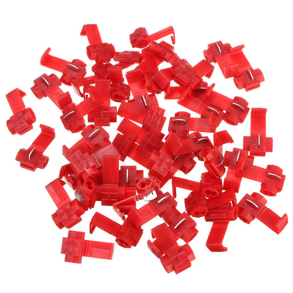 50pcs Scotch Lock Quick Splice 22-18 AWG Wire Connector Red Professional Instruments & Tools