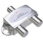 53 x 45 x 14mm 2-Way Satellite Cable Splitter 5-2400MHZ Professional Instruments & Tools
