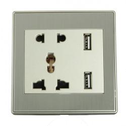 5V 1A USB Lade Multi Funktions elegante Kombination Wandsteckdose