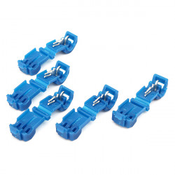 5pcs Insulated Quick Wire Connectors Blue 18-14 AWG Audio Terminal