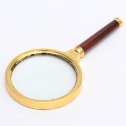 60mm 10X Handheld Magnifier Forstørrelsesglas Lens Zoomer Lup