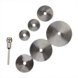 6 Pcs HSS Circular Saw Blade Dremel Cutting Discs for Rotary tools