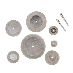 7 Pcs Diamond Grinding Slice Dremel Cutting Discs for Rotary tools
