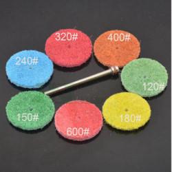 7 teilig gemischt Nylon Polierscheibe / Polierbelag für Drehwerkzeuge mit einer Stange