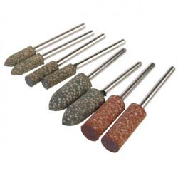 8stk Shank Rubber Grinder Slibeværktøj til Dremel Rotary Tools