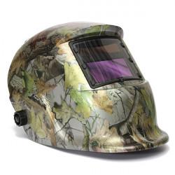 Einstellbare Auto Verdunkelung Solar Schweißhelm Maske Wald Camo