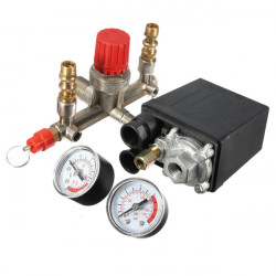 Air Compressor Pump Pressure Switch Control + Valve Gauges Regulator