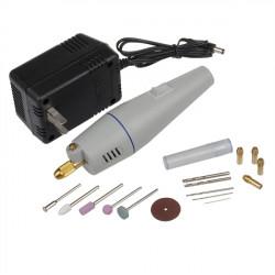 BÄSTA 220V 12V Mini Bärbar Handhållna Elektriska Borrar Kit