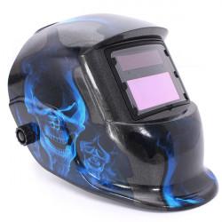 Blå Skalle Solar Auto Svetshjälm Arc Tig Mig Slipning Svetsning Maskerar