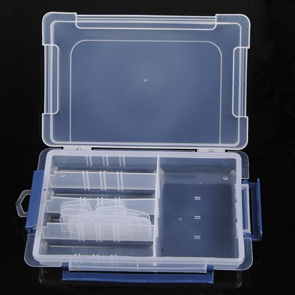 Buckle Cover Lattice Transparent Plastic Component Storage Box Case Professional Instruments & Tools