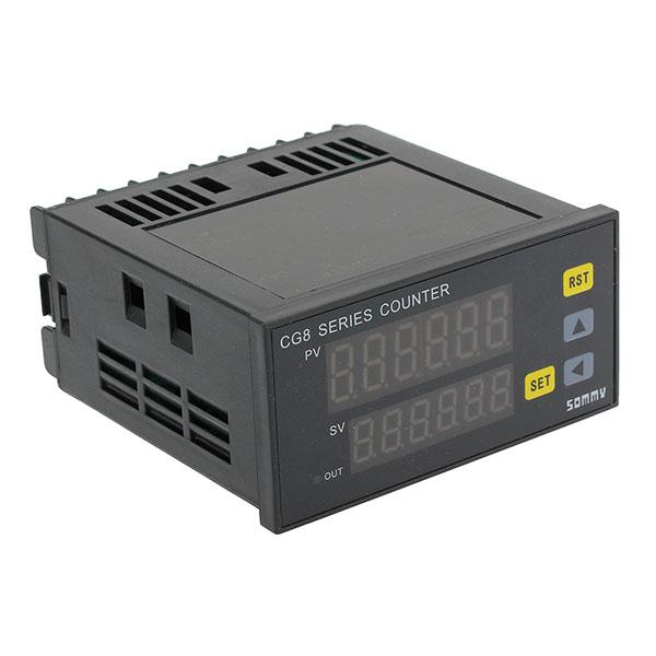 CG8 Preset Elektronische Zähler zweireihig 6 rote LED Digital Display Instrumente und Werkzeuge