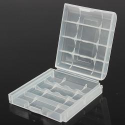 Rensa Plasthållare Förvaringsbox för Uppladdningsbar AA AAA NiMH NiCd